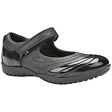 Buy Geox Shadow Leather School Shoes, Black Online at johnlewis.com