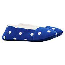 Buy Little Joule Dreama Soft Spot Slippers, Blue/White Online at johnlewis.com