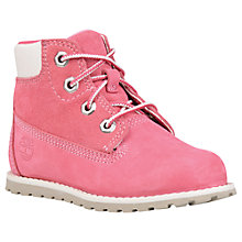 "Buy Timberland Children's Pokey Pine 6"" Chukka Boots, Pink Online at johnlewis.com"