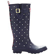 Buy Little Joule Spot Wellington Boots, Black/White Online at johnlewis.com
