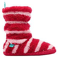 Buy Little Joule Padabout Striped Slippers, Pink/White Online at johnlewis.com