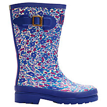 Buy Little Joule Ditsy Wellington Boots, Purple/Multi Online at johnlewis.com