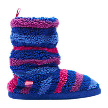Buy Little Joule Padabout Striped Slippers Online at johnlewis.com