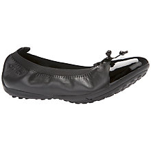 Buy Geox Piuma Ballerina School Shoes, Black Online at johnlewis.com