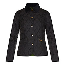 Buy Barbour Summer Liddesdale Quilt Jacket, Black/Turf Online at johnlewis.com