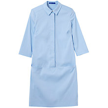 Buy Winser Cotton Poplin Shirt Dress, Blue Mist Online at johnlewis.com