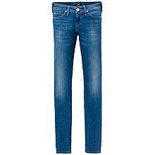"Buy Lee Scarlett Crop Skinny Jeans 31"", Indigo Blue Online at johnlewis.com"