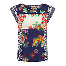 Buy Joie Bohan Silk Top, Paradise Red Online at johnlewis.com