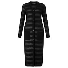 Buy Minimum Longline Stripe Cardigan, Black Online at johnlewis.com