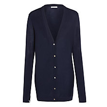Buy Nicole Farhi Merino Cardigan, Navy Online at johnlewis.com