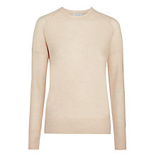 Buy Nicole Farhi Treated Round Neck Jumper, Fawn Online at johnlewis.com