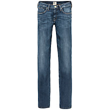 "Buy Lee Jade Straight Leg 31"" Jeans, Dark Deluxe Online at johnlewis.com"