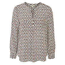 Buy Joie Peterson B Silk Top, Porcelain Online at johnlewis.com
