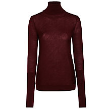 Buy Nicole Farhi Barton Roll Neck Jumper, Oxblood Online at johnlewis.com