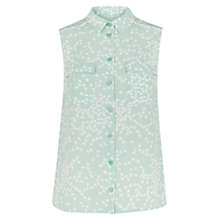 Buy Hobbs Perry Top, Eau De Nil/Ivory Online at johnlewis.com