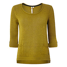 Buy White Stuff Linen Blend Barnie Knit Top, Pineapple Online at johnlewis.com