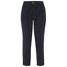 Buy White Stuff Slouchy Striped Trousers, Dark Oyster Online at johnlewis.com
