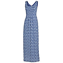 Buy Fat Face Pintuck Maxi Dress, Dark Chambray Online at johnlewis.com