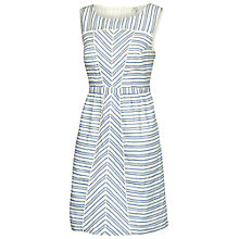 Buy Fat Face Selborne Stripe Dress, Dark Chambray Online at johnlewis.com