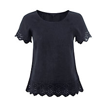 Buy White Stuff Lush Linen Top, Light Oyster Online at johnlewis.com