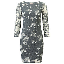 Buy Phase Eight Bernie Mesh Tunic Dress, Grey/White Online at johnlewis.com