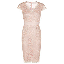 Buy Jacques Vert Petite Corded Lace Dress, Light Pink Online at johnlewis.com
