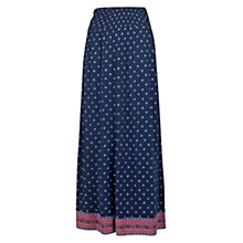 Buy Fat Face Aadita Maxi Skirt, Indigo Online at johnlewis.com