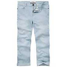 Buy Fat Face Cropped Stripe Trousers, Denim Online at johnlewis.com