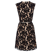 Buy Oasis Erin Lace Shift Dress, Black Online at johnlewis.com