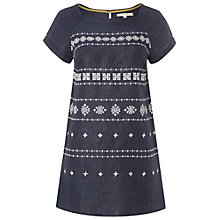 Buy White Stuff Minimal Linen Tunic Dress, Dark Oyster Blue Online at johnlewis.com