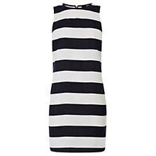 Buy Oasis Stripe Shift Dress, Black/White Online at johnlewis.com