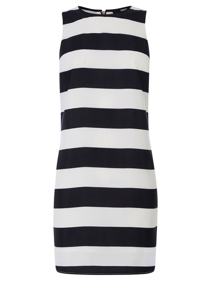 oasis stripe shift dress black/white, oasis, stripe, shift, dress, black/white, 8|12|16|14|10, women, womens dresses, 1915222