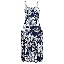 Buy Whistles Bloomsbury Print Bianca Dress, Blue/Multi Online at johnlewis.com