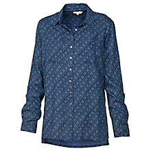 Buy Fat Face Diamond Dash Shirt, Dark Chambray Online at johnlewis.com