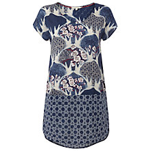 Buy White Stuff Rhodes Bird Tunic Dress, Oyster Blue Online at johnlewis.com