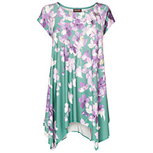 Buy Phase Eight Violet Floral Top, Green/Multi Online at johnlewis.com