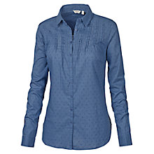 Buy Fat Face Broderie Shirt, Dark Chambray Online at johnlewis.com