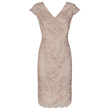 Buy Kaliko Daisy Chain Lace Sheath Dress, Light Neutral Online at johnlewis.com