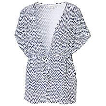 Buy Fat Face Camber Zigzag Kimono, Ivory Online at johnlewis.com