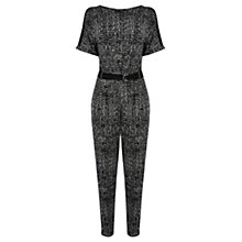Buy Oasis Mono Print D-Ring Jumpsuit, Multi Online at johnlewis.com