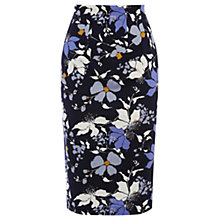 Buy Oasis Shadow Orchid Pencil Skirt, Multi Online at johnlewis.com