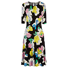 Buy Oasis Bold Bloom Dress, Multi/Black Online at johnlewis.com