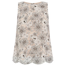 Buy Oasis Scalloped Hem Organza Vest Top, Multi White Online at johnlewis.com