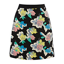 Buy Oasis Art Rose Patched Print Mini Skirt, Multi Online at johnlewis.com