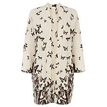 Buy Oasis Photographic Butterfly Print Kimono, White Online at johnlewis.com