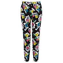 Buy Oasis Art Rose Structured Trousers, Multi Online at johnlewis.com