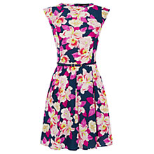 Buy Oasis Large Orchid Print Skater Dress, Multi Online at johnlewis.com