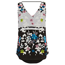 Buy Oasis Oriental Blossom V-Neck Vest Top, Multi Online at johnlewis.com