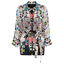Buy Oasis Oriental Blossom Belted Kimono, Multi Online at johnlewis.com