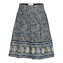 Buy Fat Face Amersham Woodblock Skirt, Navy Online at johnlewis.com